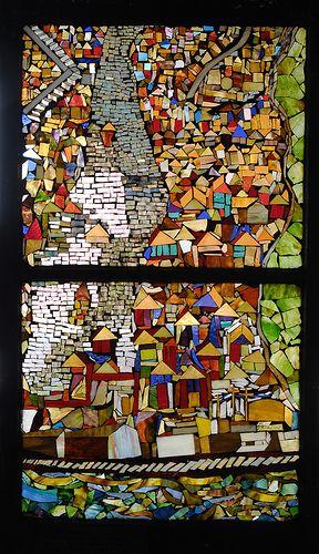 Community Mosaic Art – The Pittsburgh Glass Center Neighborhood Mosaic Project – Mosaic Artist – Daviea Davis