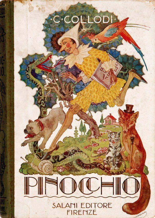 Pinocchio - illustrazioni di luigi e m. augusta cavalieri del 1924. google images