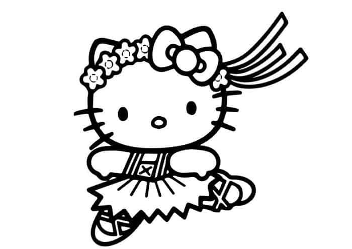 Hello Kitty Dancing Coloring Pages With Images Hello Kitty
