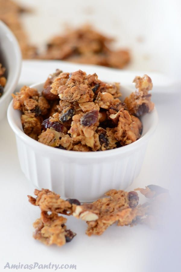 Amazing and highly addicting homemade baklava granola chunks. As nutty and as sweet as the traditional baklava, these granola baklava bites are an easier way to get your baklava fix. Skip to recipe h