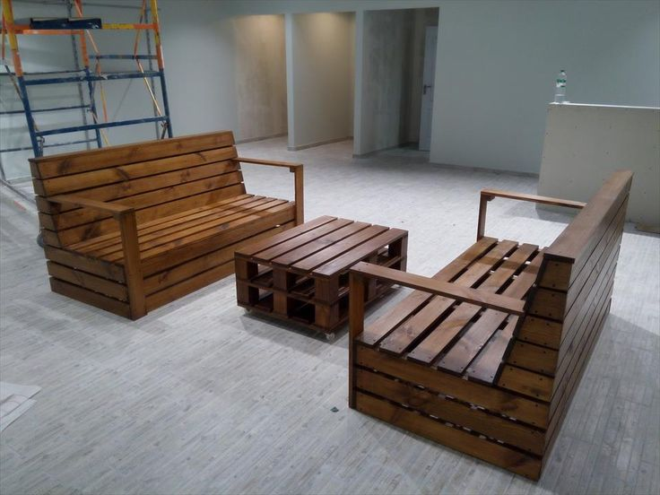 Recycled #Pallet Seating Furniture Set | 101 Pallets