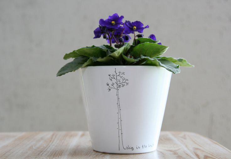 Tree flowerpot // TATOO by WRUM on Etsy