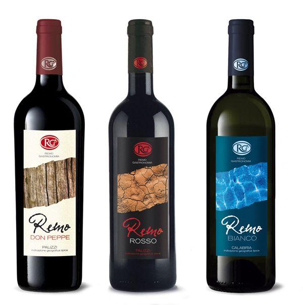 Design etichette vini Remo Gastronomia - Reggio Calabria