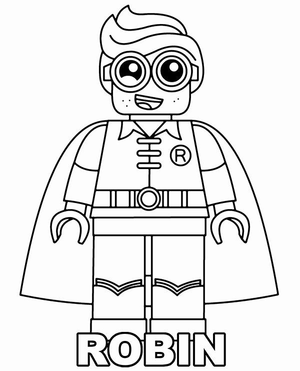 Lego Batman Coloring Page Inspirational Printable Coloring Page With Robin Lego Minifigure In 2020 Batman Coloring Pages Coloring Pages Coloring Pages Inspirational