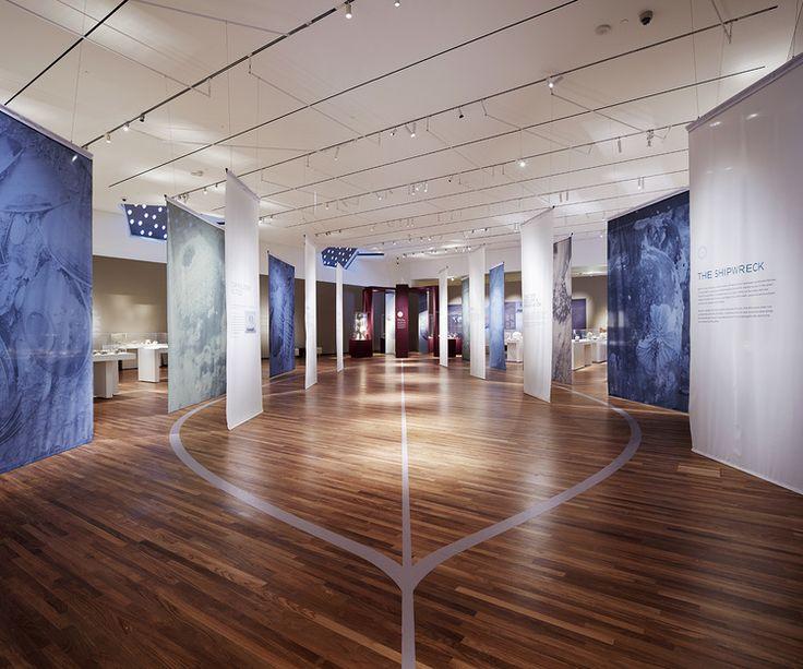"Entrance corridor with ""lost dhow"" on floor, Aga Khan Museum, Exhibit Design by: Origin Studios Inc."