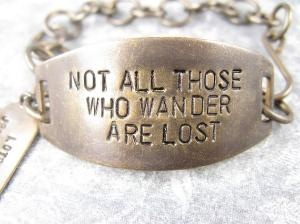 one of my favourite quotes: Lotr Bracelet, Ring Bracelet, Lost, Favorite Quote, Quotes, Dr. Who, Lord Of The Rings