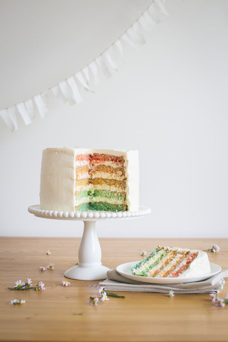 Rainbow Layer Cake   Made From Scratch