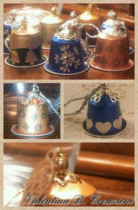 Weihnachtliche Deko aus Nespressokapseln