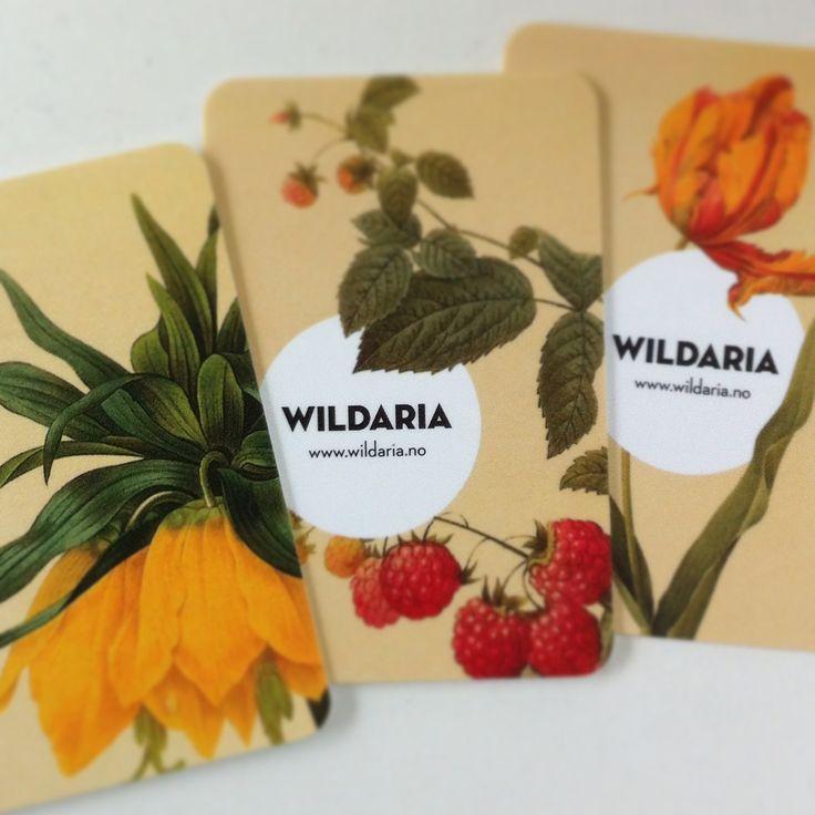 Botanical business cards Wildaria.
