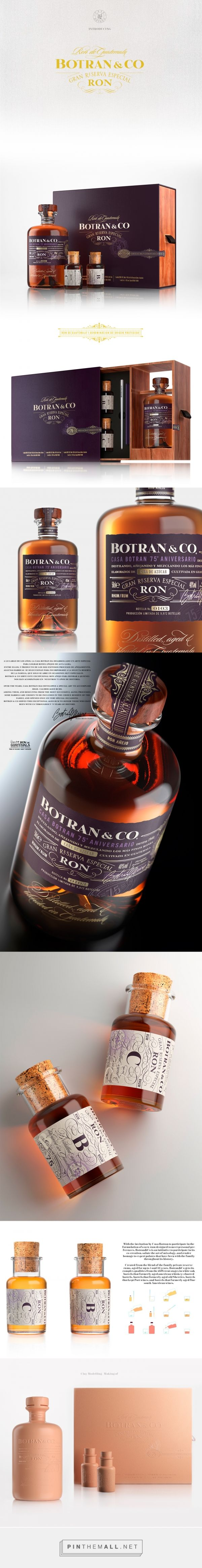 Botran & Co Rum Packaging by Marco Serena | Fivestar Branding Agency – Design and Branding Agency & Curated Inspiration Gallery