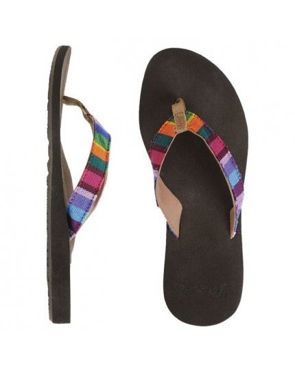 REEF GUATEMALAN LOVE FLIP FLOPS. The Guatemalan Love Flip Flops from Reef feature soft cotton straps in textile patterns, completed with an anatomical arch support on the foot bed. Features include Soft cotton strap featuring hand-woven textiles from Guatemala, Suede toepost logo, Woven polyester toepost, EVA footbed with anatomical arch support, Durable rubber outsole, since each pair is made by hand, textile colours may vary slightly. £29.99. Available at urbansurfer.co.uk