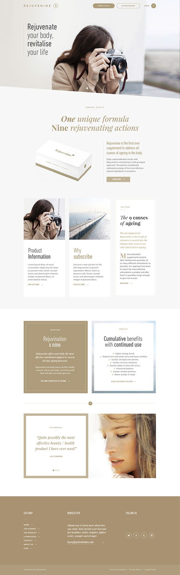 clean layout with gorgeous typography. #webdesign