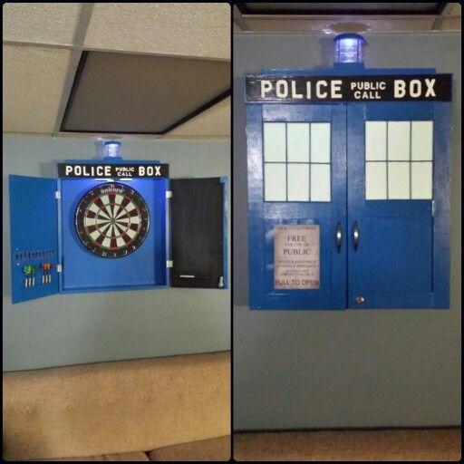 Dr. Who Tardis Dartboard Cabinet #tardis #DRWHO