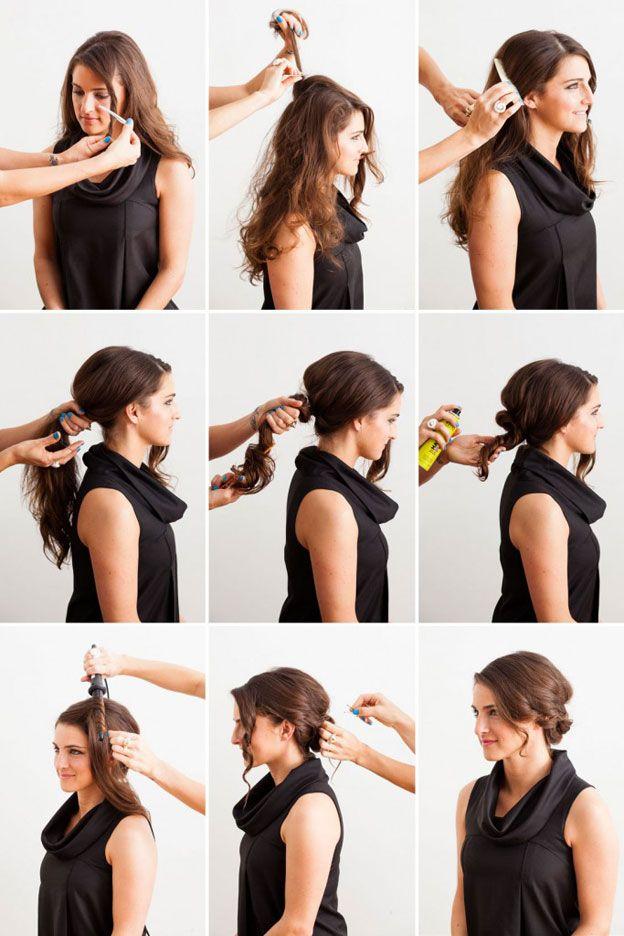 Как красиво собрать длинные волосы фото-урок