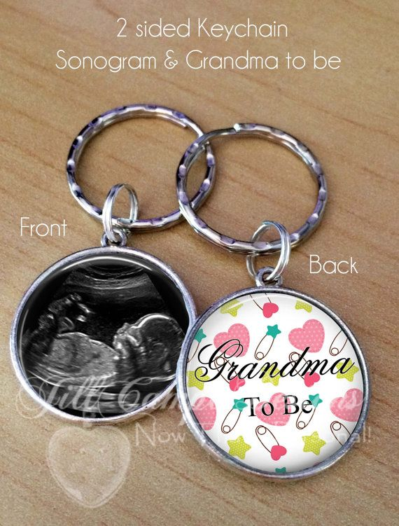 BABY SONOGRAM KEYCHAIN  Grandma to be Mommy to by NowThatsPersonal