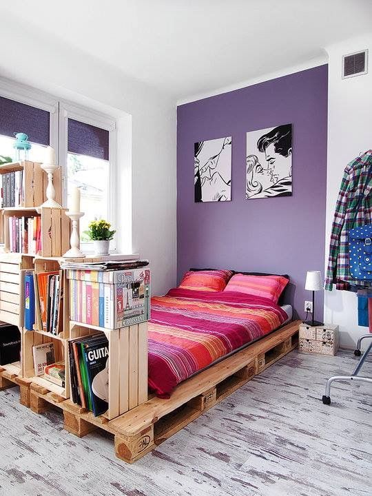 This is a good idea for a twin platform bed with storage. Love it!