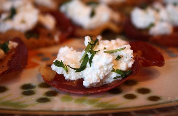 Pancetta Crisps with Goat Cheese and Pear (Fall Dinner Party - Appetizer)