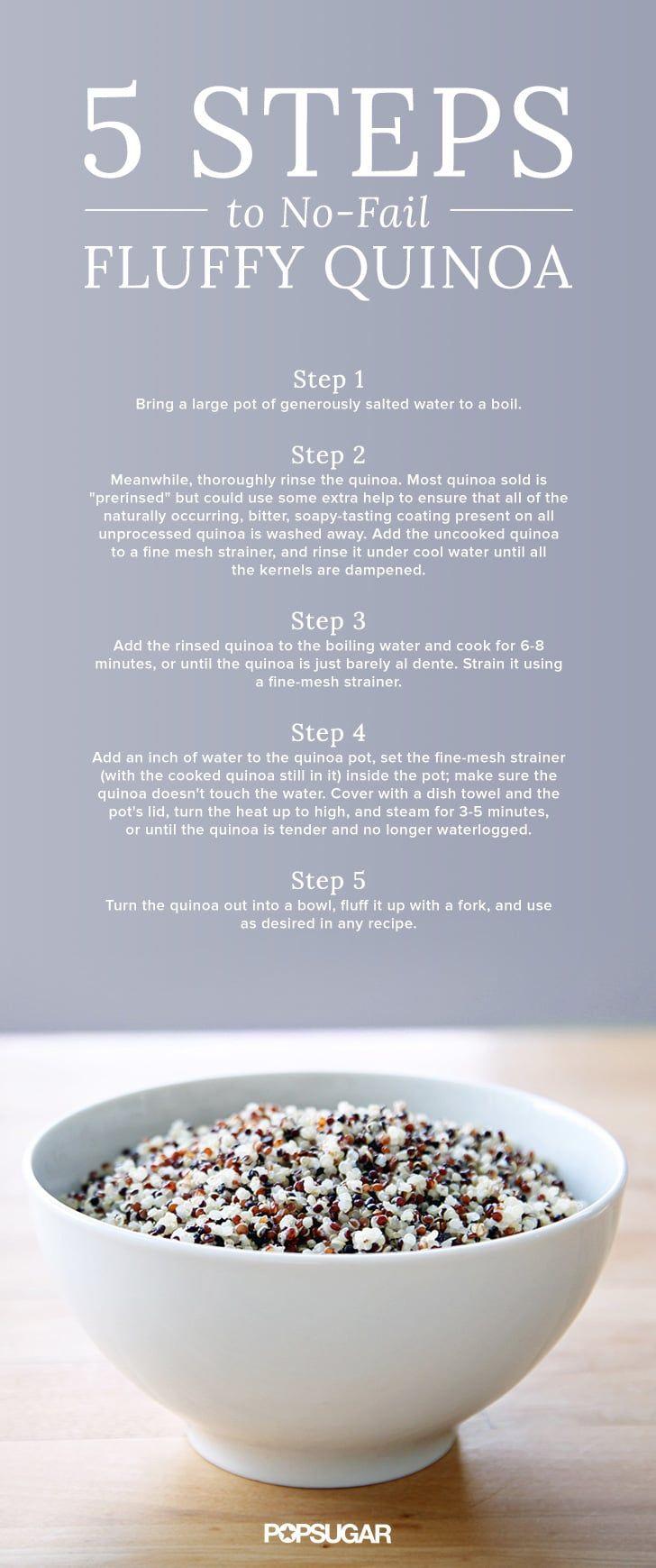 5 steps to no-fail, fluffy quinoa.