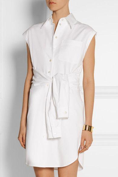 MOSCHINO Cotton-blend shirt dress  NET-A-PORTER |NET-A-PORTER