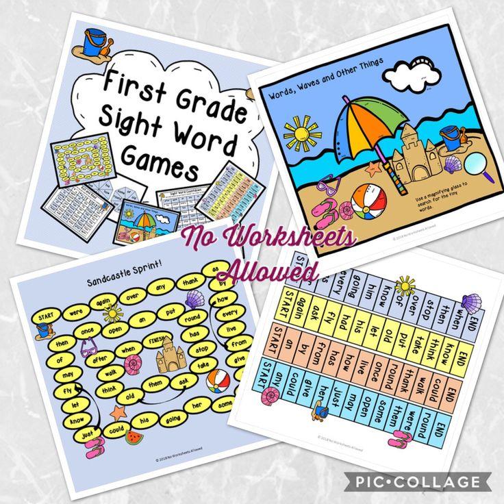 First Grade Sight Word Games & Activities