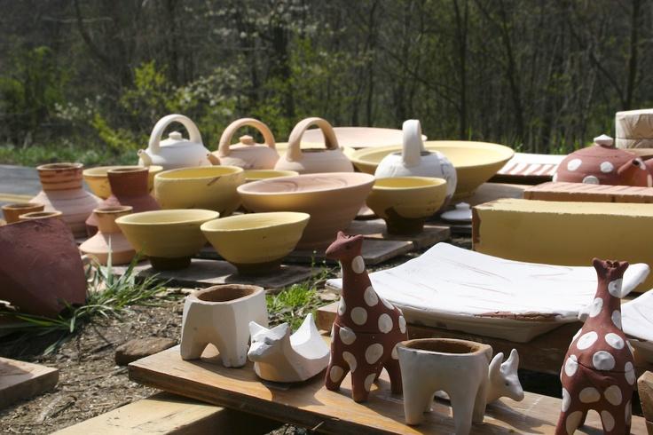 Getting Ready to Load the Kiln: Get Ready, Bandanas Pottery, Ceramics, Net Th Pot