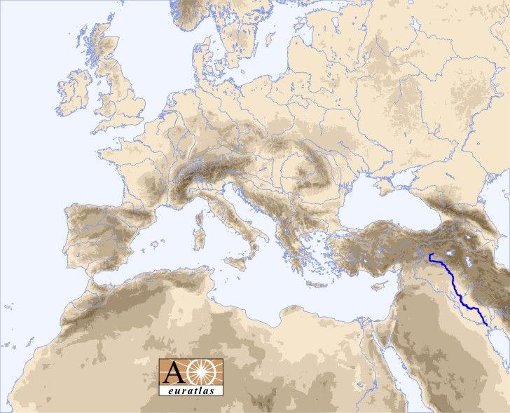 Rivers Atlas: Tigris River - Dicle, Dijlah, Idiglat