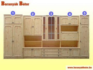 Andrea szekrénysor bükk, salvados és cseresznye színekben.  http://www.baranyakbutor.hu/index.php?menu=szekrenyek&id=andrea-szekrenysor