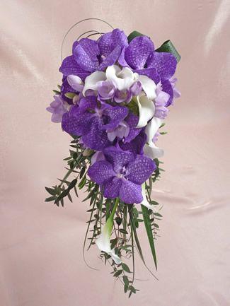 Orquídeas y Calas- Vanda Orchid Bouquet