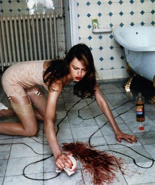 Elise Crombez by Helmut Newton
