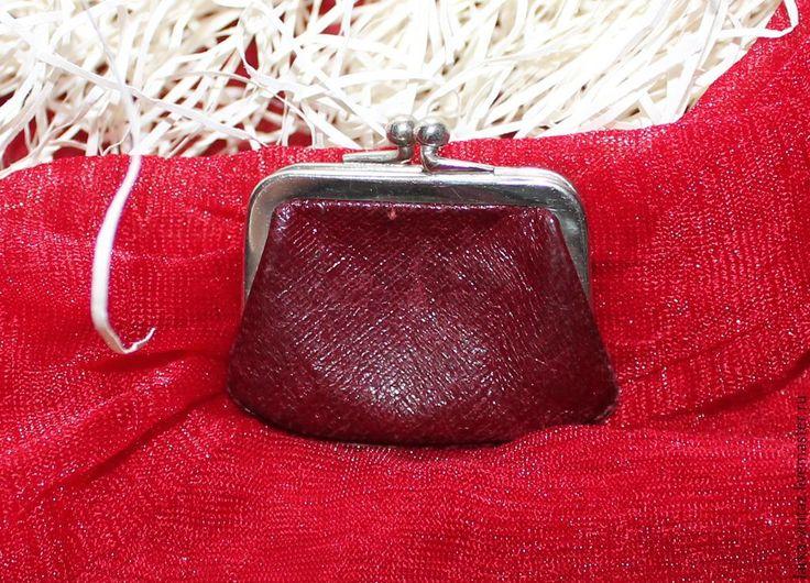 Купить Винтажный кошелек Малявочка - бордовый, винтажный кошелек, винтаж, винтажный стиль