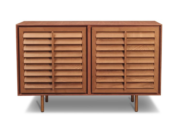 PECKABOO – sideboard made of solid wood, with shutters, showing a glimpse of the internal led lighting. A real design innovation. Elegant, roomy, innovative, an extremely functional and light element. design by Matteo Bianchi