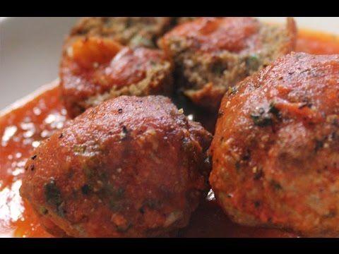 Recept voor peppe's polpette of balletjes in tomatensaus   njam!