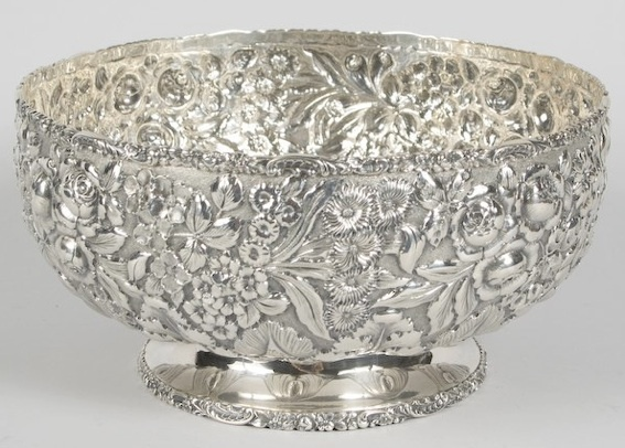 Punch Bowl Engraved with 1905 Date