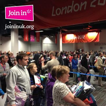 London 2012 Memorabilia Sale - The crowds were HUGE!