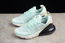 Latest Style Nike Air Max 270 Flyknit Mint Green Black White AH6789 117 Trainer  Women s Running Shoe 67ef304c1