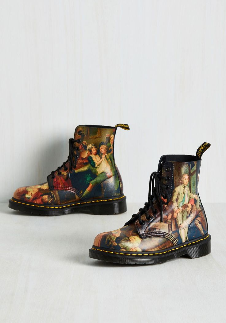 Off to a Good Art Leather Boot. Black leather boots as bold as these deserve to have outfits revolve around their distinct profile. #black #modcloth
