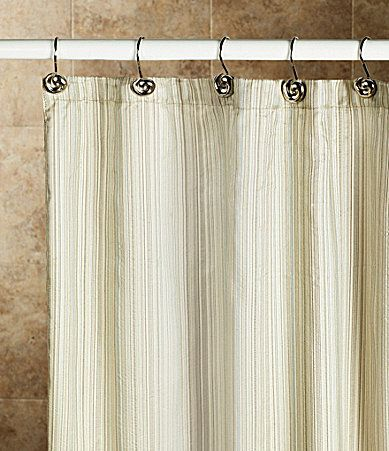Noble Excellence Metallic Stripe Shower Curtain Dillards