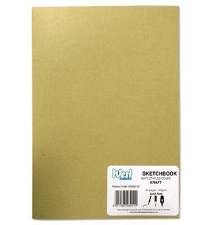 Stapled Softback Kraft Covered Sketchbooks