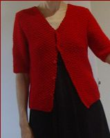 Knit this plus size ladies jacket. The pattern includes the option of elbow length or long sleeves.