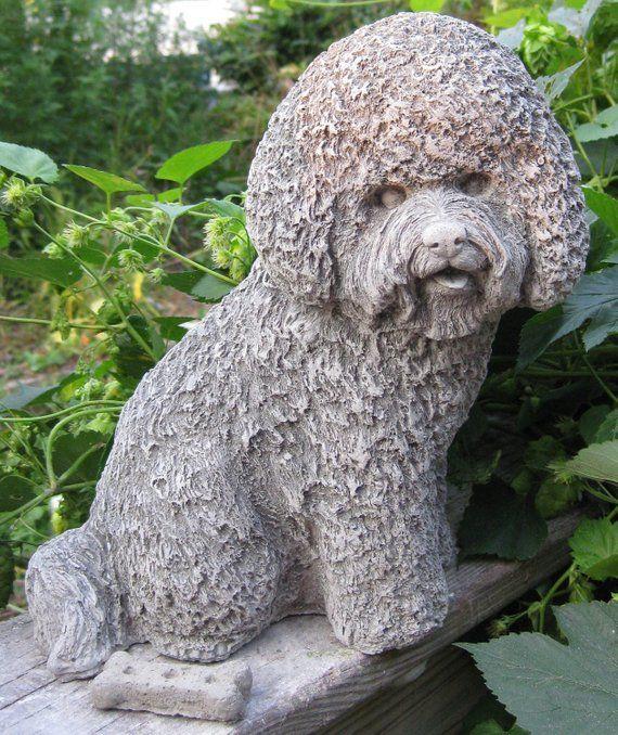Bichon Frise Dog Statue Cast Stone Bichon Frise Dogs Statue