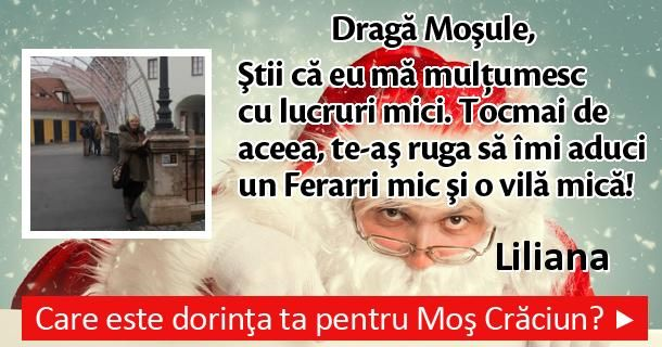 Care este dorinţa ta pentru Moş Crăciun?
