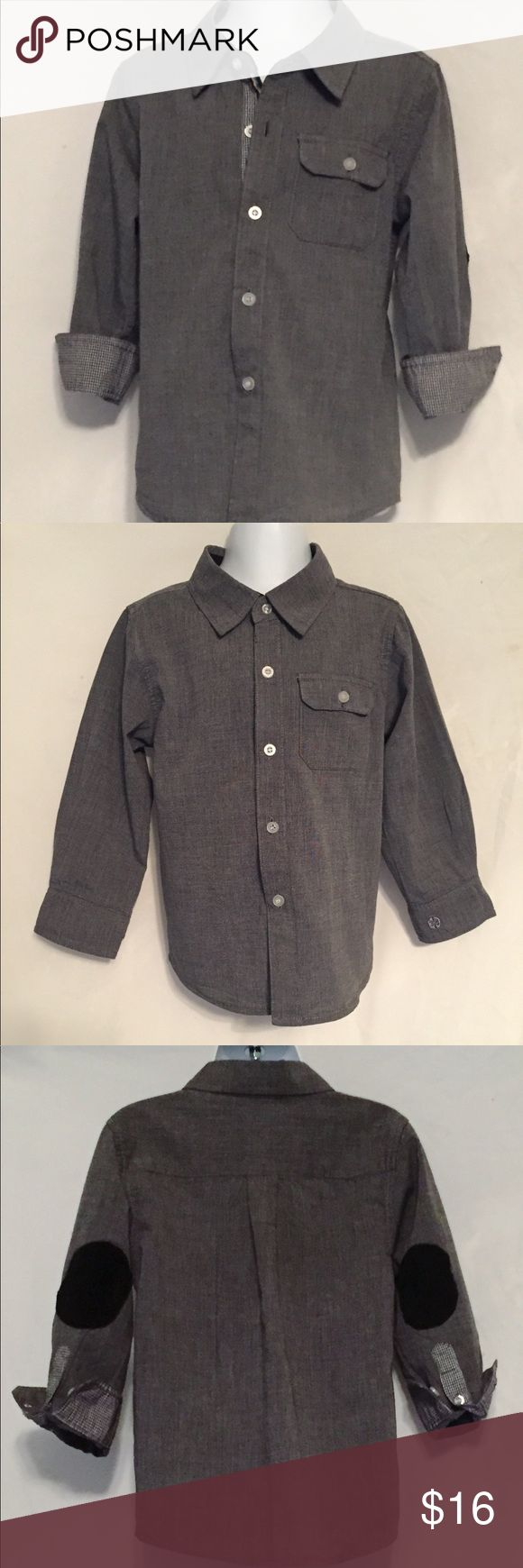 Beetle and Thread Boys Dress Shirt 3T Gray Only Worn two or three times, in excellent condition Beetle and Thread Shirts & Tops Button Down Shirts