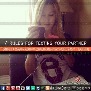 Online dating rules texting