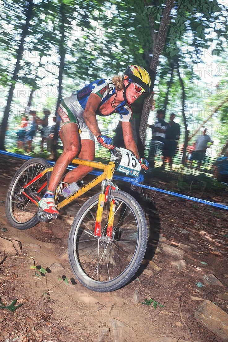 Paola Pezzo xco Gold Medal  at Atlanta Olympic Games in 1996 riding a Gary Fisher #mtb
