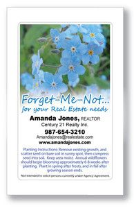 Realtor Real Estate Agent Promotional Promo Seed Packets - Forget-Me-Not Seeds