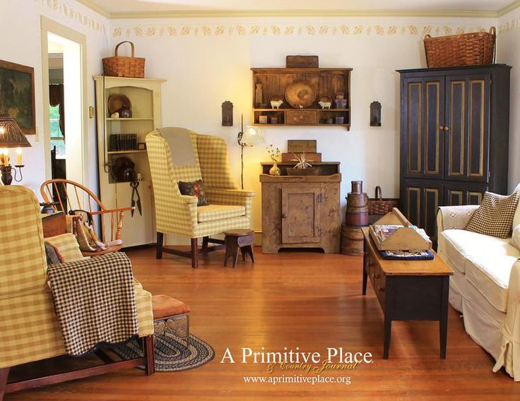 Primitive Living Rooms. A Primitive Place Magazine  stencil 449 best primitive and colonial living rooms images on Pinterest