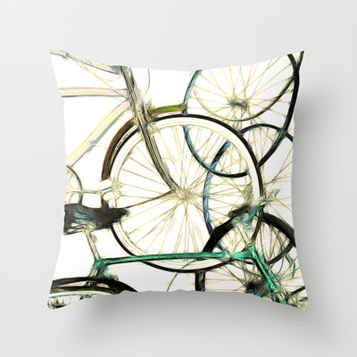 Recycled Throw Pillow by F Photography and Digital Art - $20.00