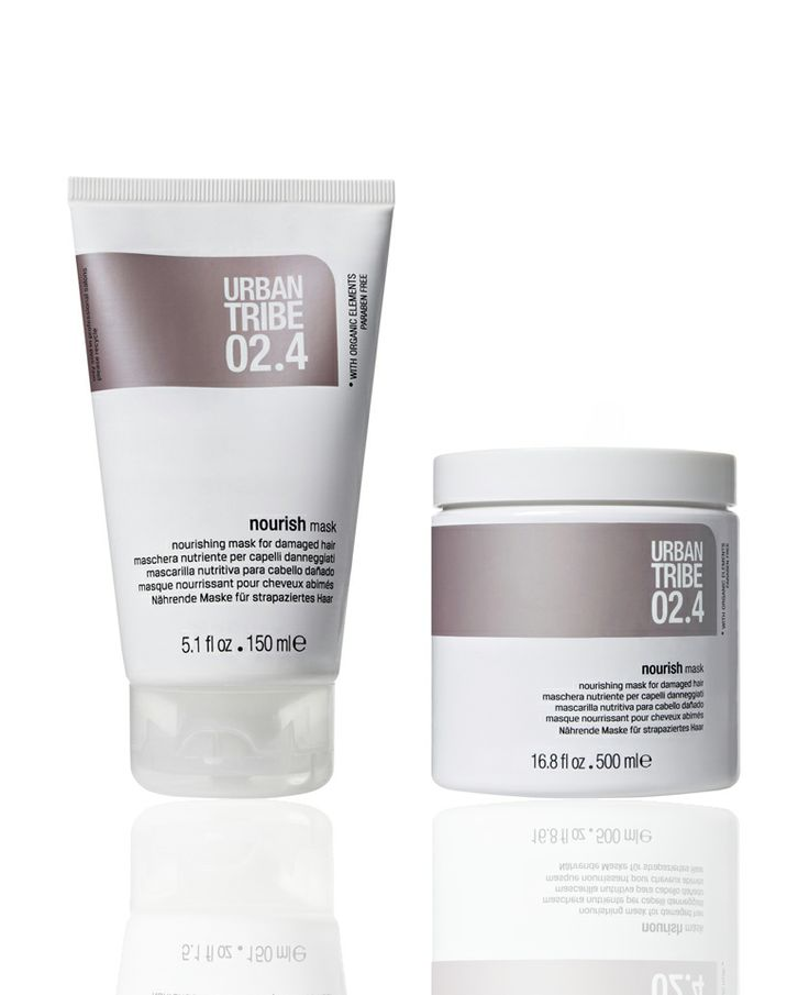 02.4 nourish mask by Urban Tribe haircare for a deep nourishing and balancing action on the hair.