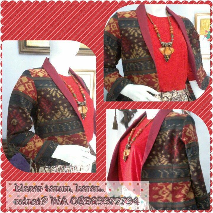Blazer tenun indonesia