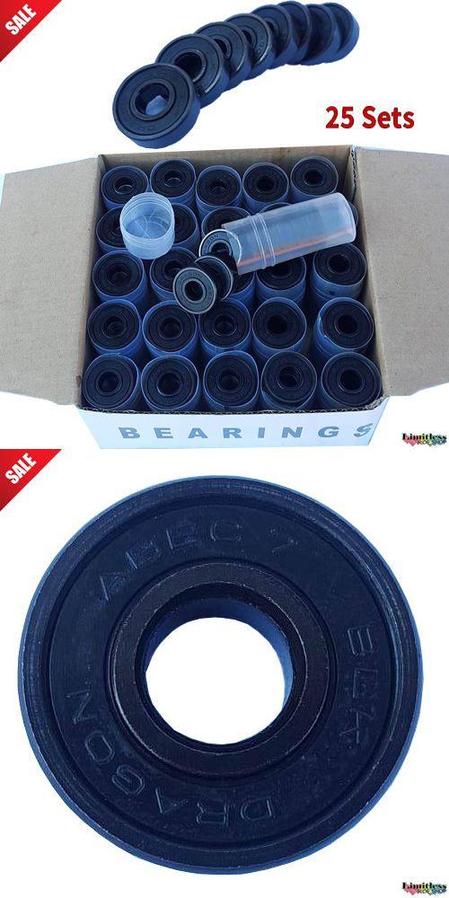 Bearings 36624: 25 Sets Skateboard Bearings Abec 7 Performance 200Pc Wholesale Bulk Black Black -> BUY IT NOW ONLY: $89.99 on eBay!